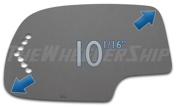 New Mirror Glass Chevrolet Silverado Tahoe Suburban GMC Truck Left Drivers Side Power Turn Signal