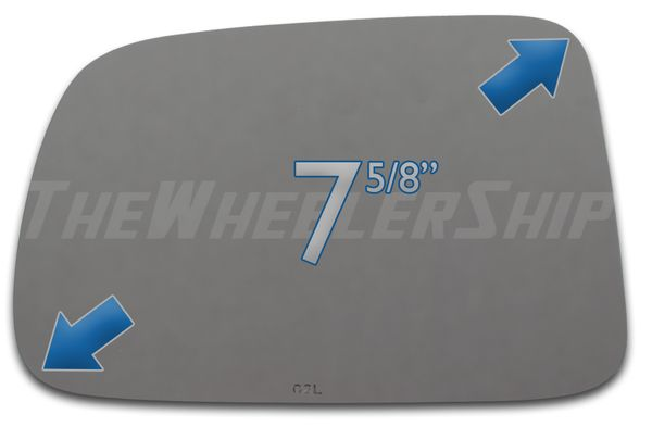 New Mirror Glass Replacements For Honda CR-V 1996-2006 Left Driver Side 2844