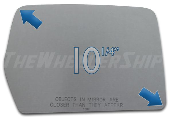 New Mirror Glass Replacements For Ford F150 2004-2011 Passenger Right Side 3310