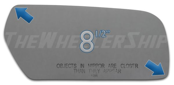 New Mirror Glass Replacements For Cadillac CTS CTS-V 2003-2007 Passenger Side