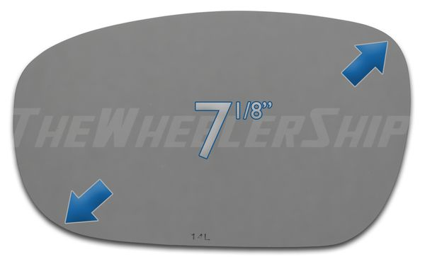 New Mirror Glass Replacement For Chrysler Dodge 300 Charger Magnum Left Side