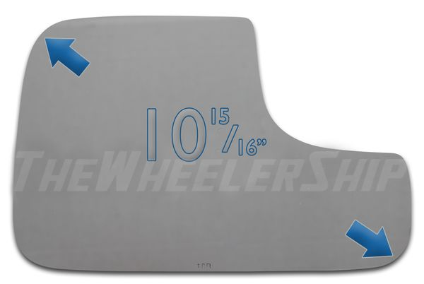 New Mirror Glass For Dodge Ram Tow 02-08 Passenger Pickup Right Side 2763