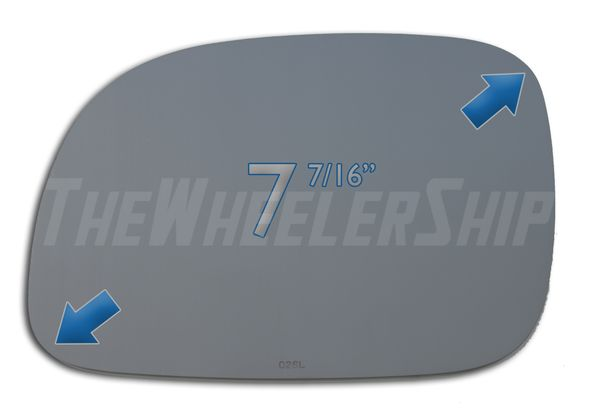 New Mirror Glass Replacement Chrysler Dodge Plymouth Caravan Left Driver Side