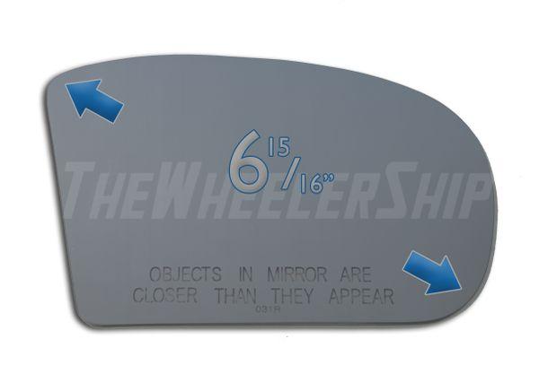 New Mirror Glass Replacement For Mercedes Benz E280 E320 E350 C320 C280 5148