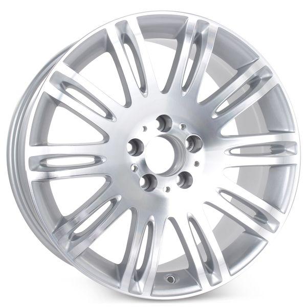 "New 18"" x 8.5"" Alloy Replacement Wheel for Mercedes E350 E550 2007 2008 2009 Rim 65432 Machined W/ Silver"