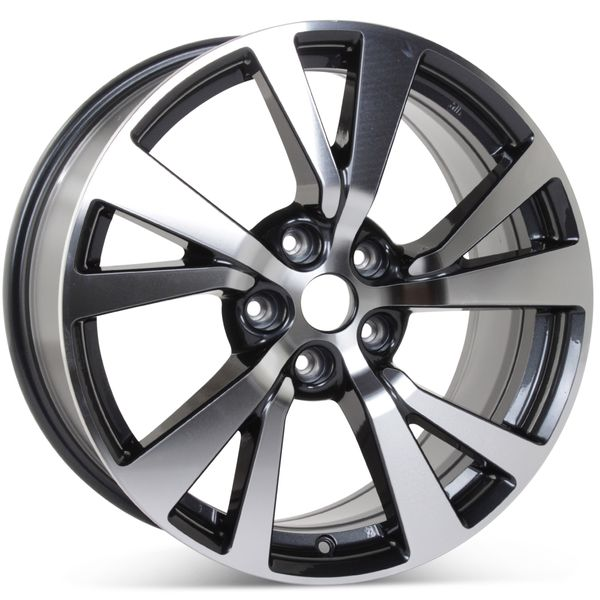 "New 18"" Alloy Replacement Wheel for Nissan Maxima 2016-2018 Machined w/ Charcoal Rim 62721"