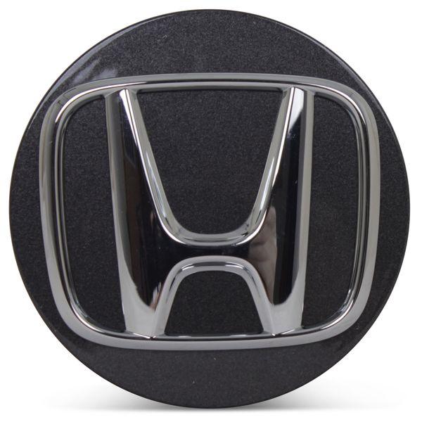 OE Genuine Honda Accord 2018 2019 2020 Dark Charcoal Center Cap w/ Chrome Logo CAP9117