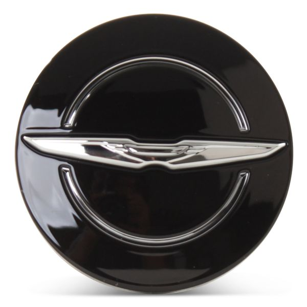 OE Genuine Chrysler Black Center Cap with Wing Logo CAP2993