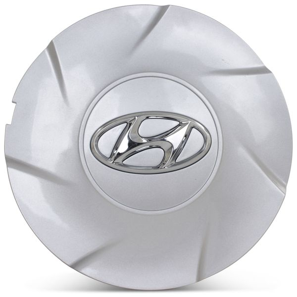 OE Genuine Hyundai Silver Center Cap W/ Chrome Logo  Hub Cap CAP7965