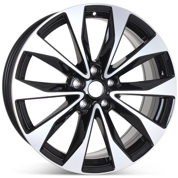 """New 19"""" Alloy Replacement Wheel for Nissan Maxima 2018-2020 Machined w/ Black Rim 62723"""