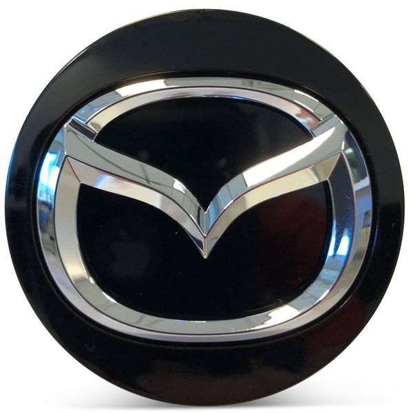 OE Genuine Mazda Center Cap Black with Chrome Logo CAP7333