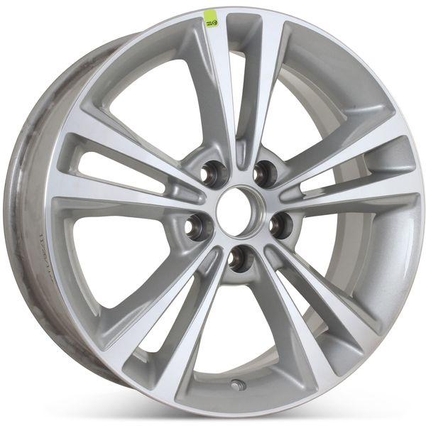 "Factory OEM 18"" x 7.5""  2008 2009 2010 2011 2012 Lincoln MKS Wheel Machined W/ Silver Rim 3765 Open Box"