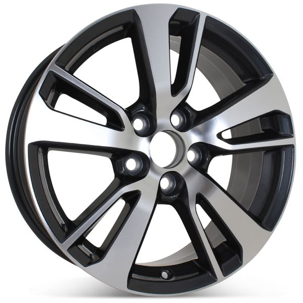 """17"""" x 7"""" Alloy Replacement Wheel for Toyota Rav4 2016 2017 Machined W/ Charcoal Rim 75198 Open Box"""