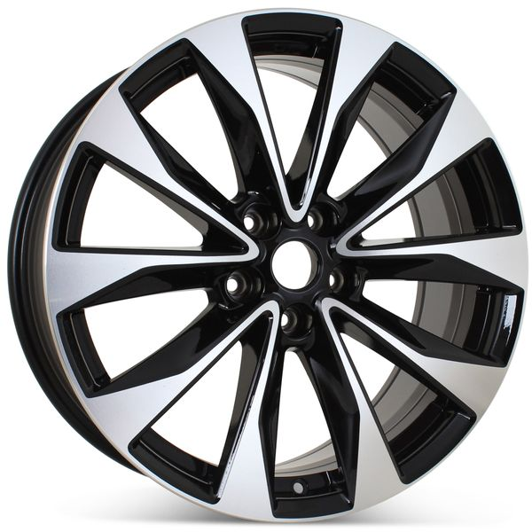 """19"""" Alloy Replacement Wheel for Nissan Maxima 2018 Machined w/ Black Rim 62723 Open Box"""