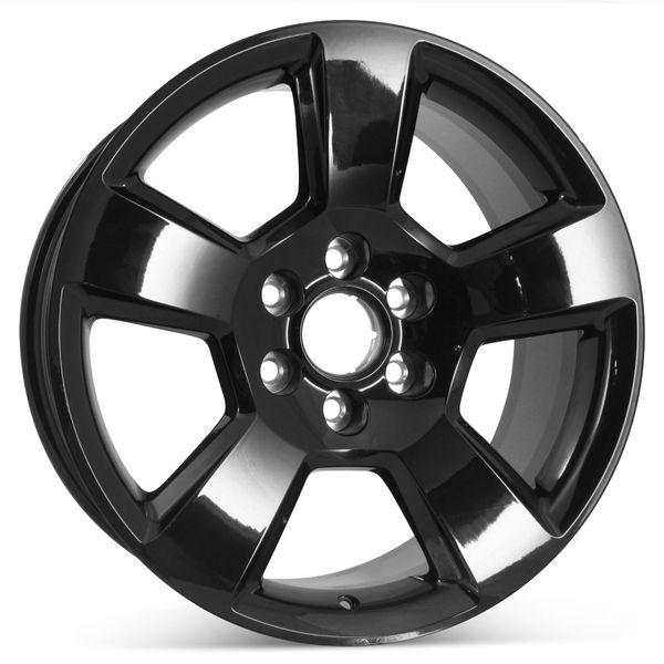 "New 20"" Alloy Replacement Wheel for Chevrolet Tahoe Suburban Silverado 1500 2015-2020 Rim Black 5652"