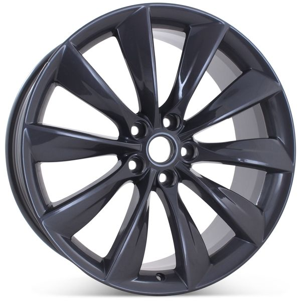 "21"" x 8.5"" Front Wheel for Tesla Model S 2012 2013 2014 2015 2016 2017 Gray Rim 98727 Open Box"