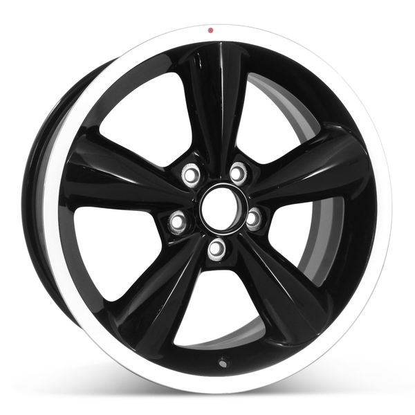 """18"""" x 8.5"""" Replacement Wheel for 2006-2009 Ford Mustang Rims 3648 Machined w/ Black"""