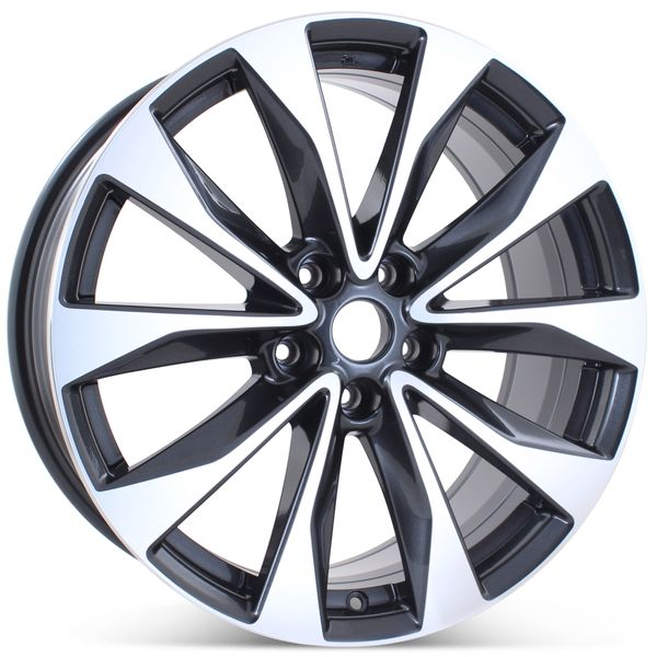 """New 19"""" x 8.5"""" Alloy Replacement Wheel for Nissan Maxima 2016-2018 Machined w/ Charcoal Rim 62723"""