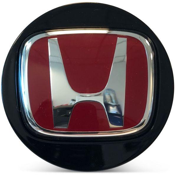 OE Genuine Honda Accord Center Cap Black with Red R Racing Circle Chrome Logo CAP6222