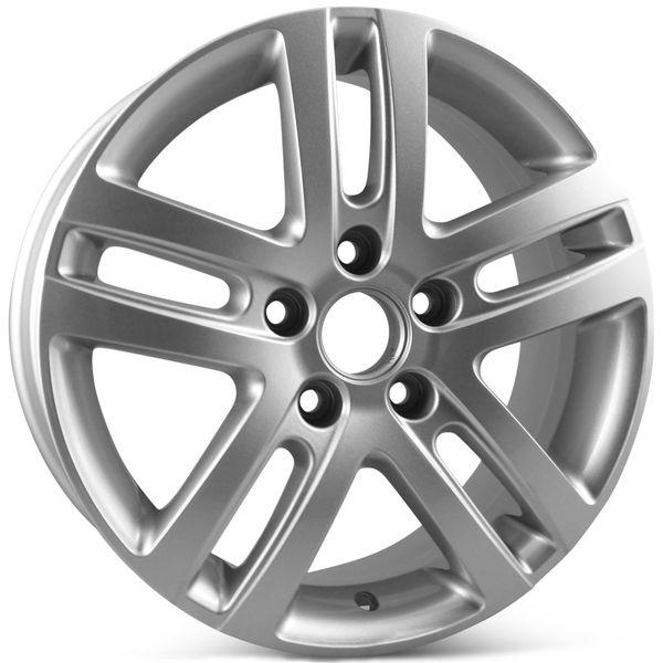 "16"" Alloy Replacement Wheel for Volkswagen Jetta VW 2005-2015 Silver Rim 69812 Open Box"