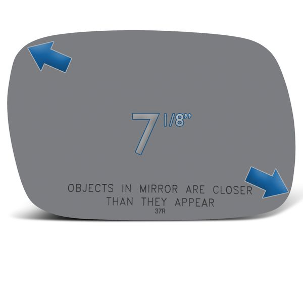 New Mirror Glass Replacements For Jeep Cherokee 1997-2001 Passenger Right Side