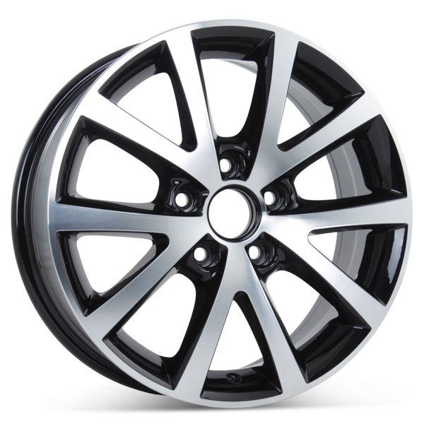 "New 16"" Alloy Replacement Wheel for Volkswagen Jetta 2016-2018 Sedona Black Rim 70008"