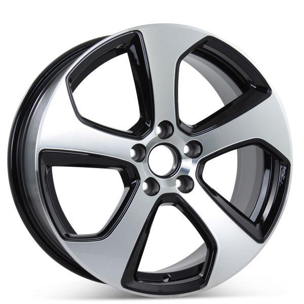 "New 18"" x 7.5"" Wheel for Volkswagen GTI Golf 2014 2015 2016 2017 2018 2019 Rim 69980"