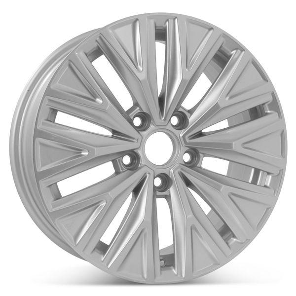 "New 16"" x 6.5"" 10 spoke Alloy Replacement wheel For Volkswagen Jetta 2019 2020 Rim Silver 70045"