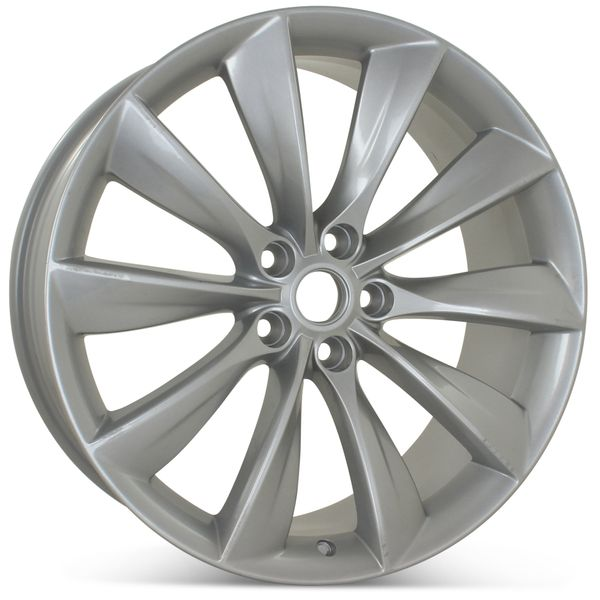 "21"" x 8.5"" Front Wheel for Tesla Model S 2012 2013 2014 2015 2016 2017 Silver Rim 98727 Open Box"