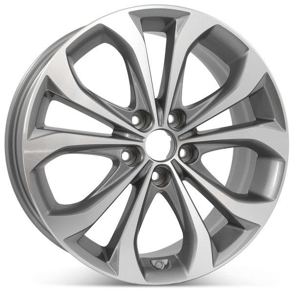 "New 18"" x 7.5"" Alloy Replacement Wheel for Hyundai Sonata 2013 & 2014 Rim 70843"