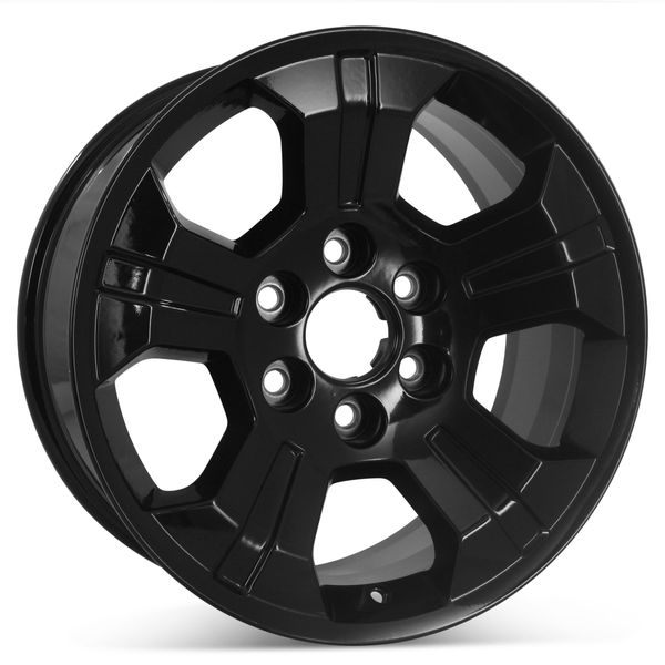 "New 18"" x 8.5"" Replacement Wheel for Chevrolet Silverado Tahoe Suburban & GMC Sierra 2014-2020 Gloss Black Rim 5647"