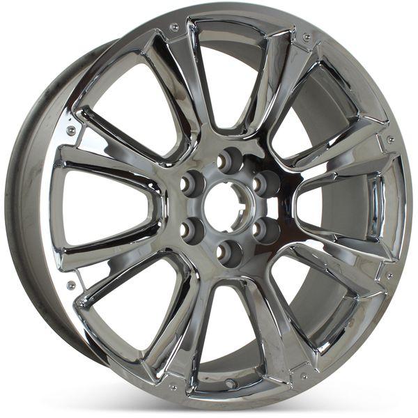 "Brand New 22"" x 9"" GMC Sierra Denali Yukon Suburban 2011 2012 2013 2014 Factory OEM Wheel Rim 5410 Chrome"