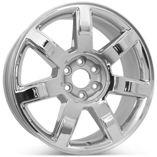"""Brand New 22"""" x 9"""" Cadillac Escalade 2007 2008 2009 2010 2011 2012 2013 Factory OEM Wheel Rim 5309 Chrome"""