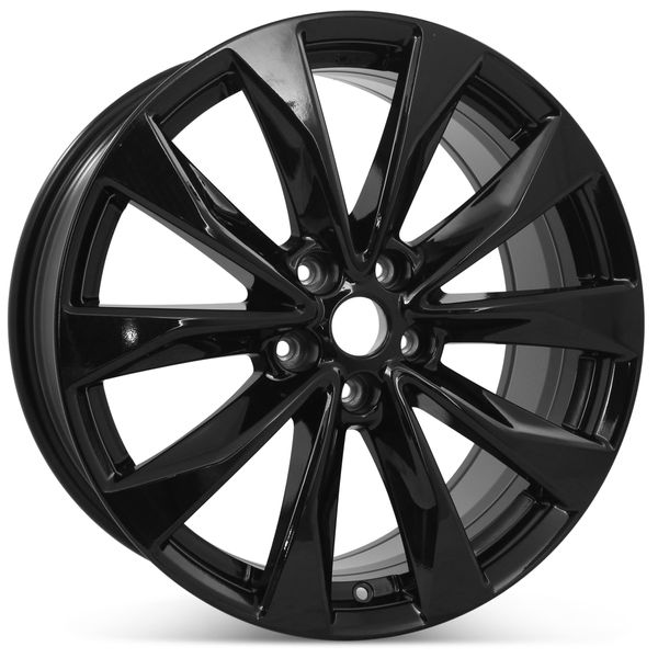 """New 19"""" Alloy Replacement Wheel for Nissan Maxima 2016 2017 2018 2019 2020 Gloss Black Rim 62723"""