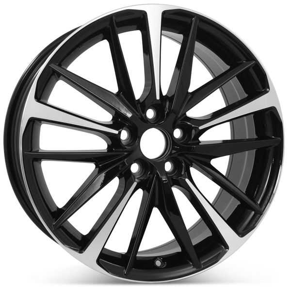 """New 19"""" x 8"""" Replacement Wheel for Toyota Camry XSE 2018 2019 2020 Machined W/ Black Rim 75222"""