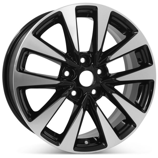 """New 17"""" x 7.5"""" Alloy Replacement Wheel for Nissan Altima 2016 2017 2018 Machined W/ Black Rim 62719"""