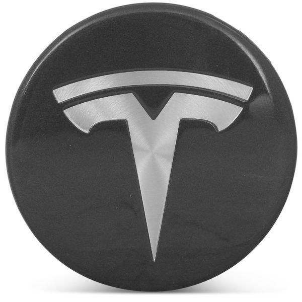 OE Genuine Tesla Center Cap W/ Tesla Logo Charcoal CAP4999