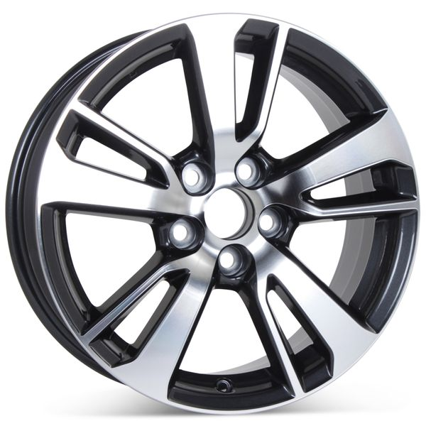 """New 17"""" x 7"""" Alloy Replacement Wheel for Toyota Rav4 2016-2018 Machined W/ Charcoal Rim 75198"""