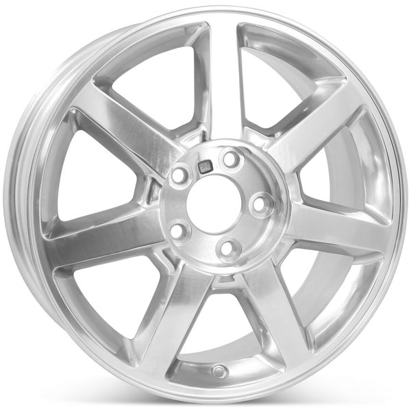 """17"""" Alloy Replacement Wheel for Cadillac CTS STS 2004 2005 2006 2007 2008 2009 2010 2011 Rim Polished 4578 Open Box"""