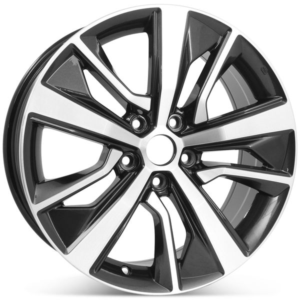"""New 18"""" x 8"""" Alloy Replacement Wheel for Nissan Maxima 2019 2020 Machined w/ Dark Charcoal Rim 62807"""