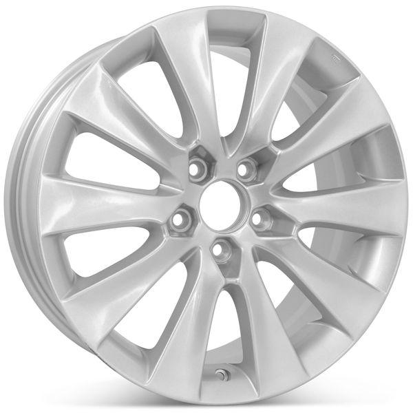 "18"" Replacement Wheel for Honda Accord 2008 2009 2010 Silver Rim 63937 Open Box"