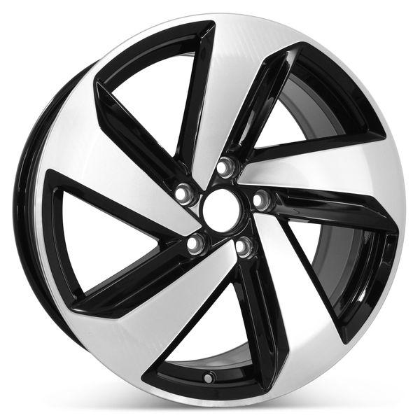 "New 18"" x 7.5"" Replacement Wheel for Volkswagen Golf GTI 2018 2019 Rim 70056"