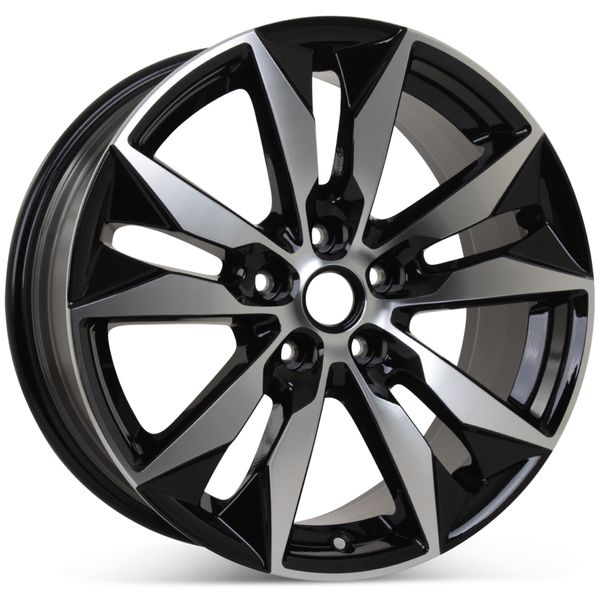 "New 18"" x 8.5"" Wheel for Chevrolet Malibu 2016-2018 Machined W/ Black Rim 5716"
