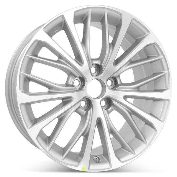 """New 18"""" x 8"""" Replacement Wheel for Toyota Camry SE 2018 2019 2020 Rim 75221 Machined W/ Silver"""