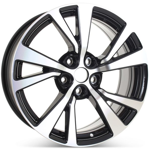 """New 18"""" Alloy Replacement Wheel for Nissan Maxima 2016 2017 2018 Machined w/ Black Rim 62721"""