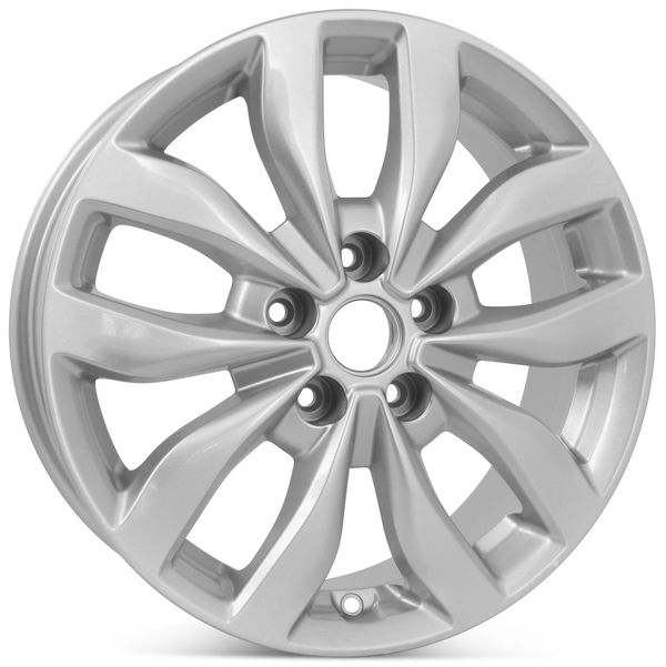 """17"""" x 6.5"""" Alloy Replacement Wheel for Kia Optima 2013 2014 2015 Silver Rim 74690 OPEN BOX"""