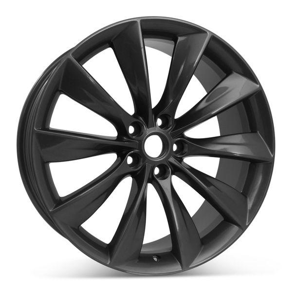 """21"""" x 9"""" Rear Wheel for Tesla Model S 2012 - 2017 Gray Rim 97095 Open Box"""