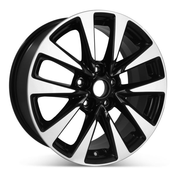 """17"""" x 7.5"""" Alloy Replacement Wheel for Nissan Altima 2016 2017 2018 Machined W/ Black Rim 62719 Open Box"""