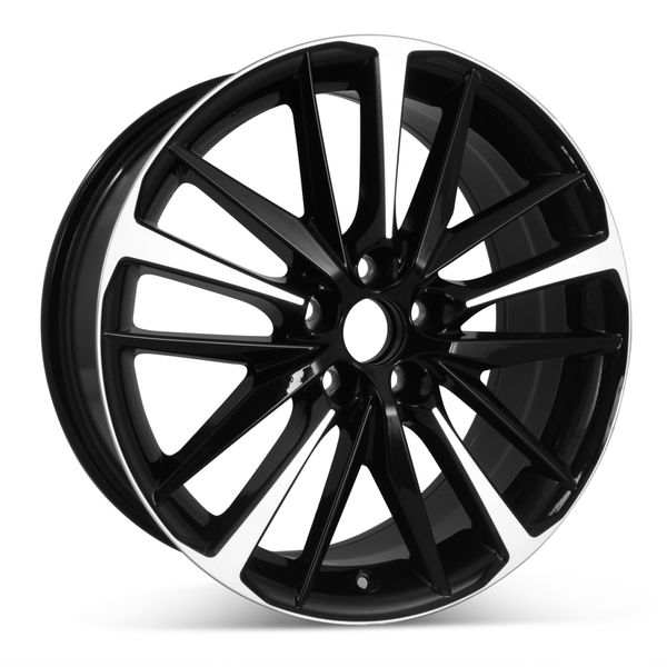 """Open Box 19"""" x 8"""" Replacement Wheel for Toyota Camry XSE 2018 2019 2020 2021  Machined W/ Black Rim 75222"""