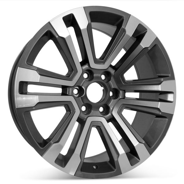 """Open Box  22"""" x 9"""" Replacement Wheel for GMC Yukon and Denali 2017-2020 Rim Machined with Charcoal 5822"""